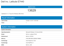 GeekBench - Dell Latitude E7440