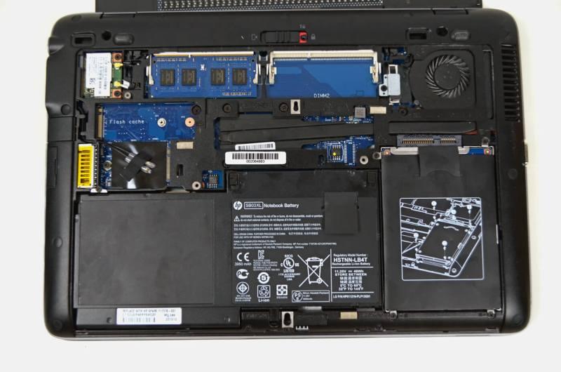HP Elitebook 820 G1 - interior