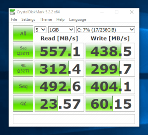 Dell Latitude E6440 - test viteza SSD