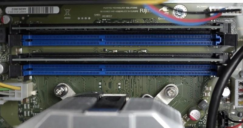 Workstation Fujitsu CELSIUS W530 - sloturi memorii ram