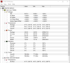 HP EliteBook Revolve 810 G1 - monitorizare temperatura