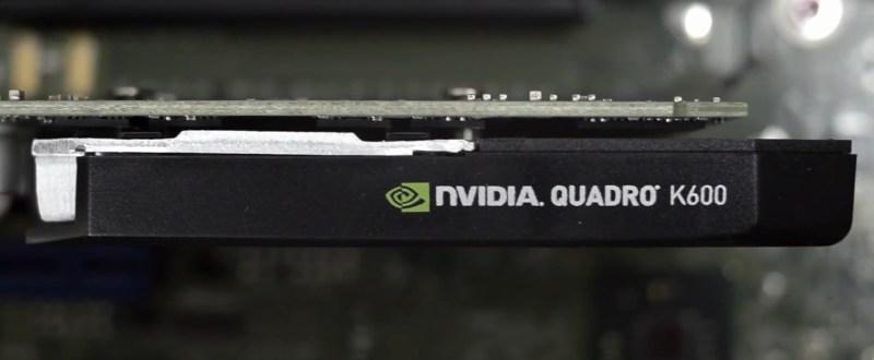 Workstation Fujitsu CELSIUS W530 - nVidia Quadro K600