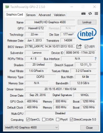 Lenovo ThinkPad T540 - GPU-Z