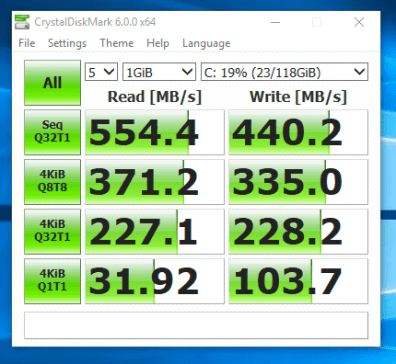 Dell Latitude E7240 - test viteza SSD