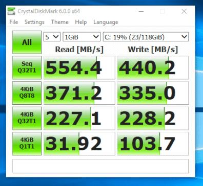 Dell Latitude E7240 - test viteza SSD