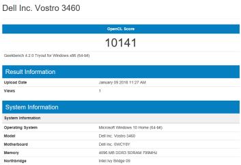 Dell Vostro 3460 - Open CL GT 630M