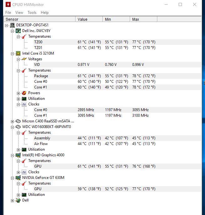 Dell Vostro 3460 - monitorizare temperaturi in teste