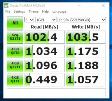 HP EliteBook 2570p - test viteza HDD