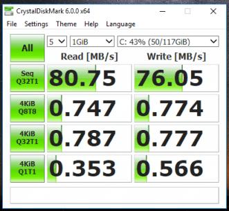 Dell Latitude 3340 - test viteza HDD