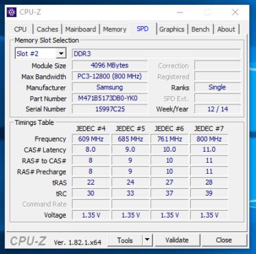 HP 255 G2 - CPU-Z memorie RAM