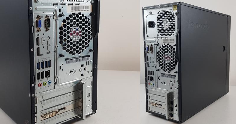 Lenovo ThinkStation P300 back panel