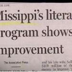 The Literacy Rate in Mississippi is Bad?