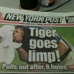 Tiger Woods Goes Limp