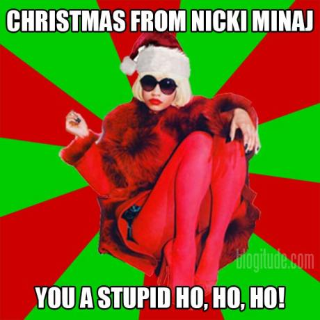 """Christmas From Nicki Minaj: """"You a stupid Ho, Ho, Ho!"""""""