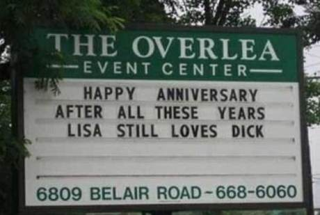 Happy Anniversary: After all these years, Lisa still loves Dick.