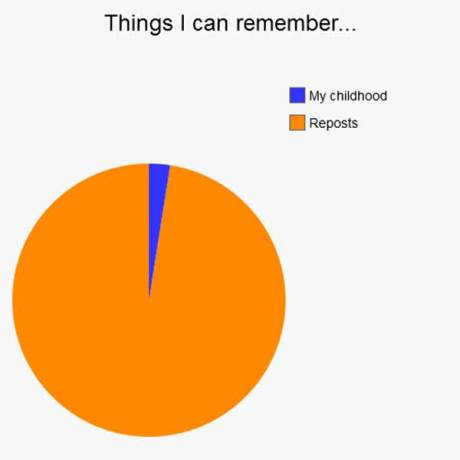 Things I can remember: 2% Childhood, 98% Reposts