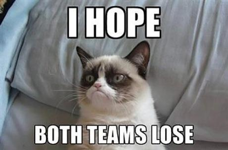 Grumpy Cat: I Hope Both Teams Lose