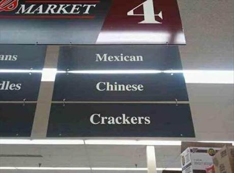Supermarket: Mexican, Chinese, Crackers