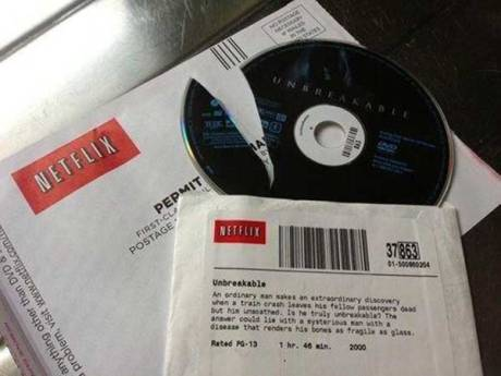 """Netflix Broken Disc: """"Unbreakable"""""""