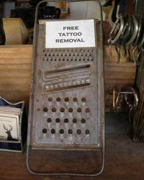 Free Tattoo Removal - The Common Kitchen Grater