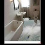 Bathroom Floor for Thrill Seekers
