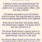 The Blonde Speeder and the Blonde Cop