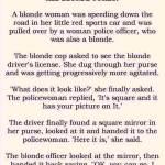 The Blonde Speeder and the Blonde Cop