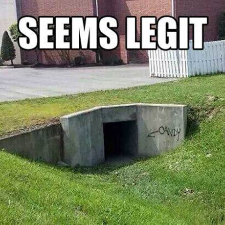"Sewer drain: ""Candy""   SEEMS LEGIT"