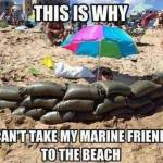 Marines at the Beach