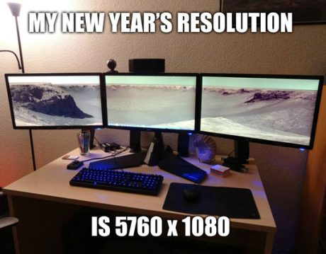 My New Year's Resolution is 5760x1080