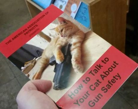 Pamphlet: How to Talk to Your Cat About Gun Safety