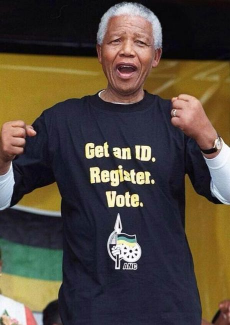 "Mandela: ""Get an ID. Register. Vote."""