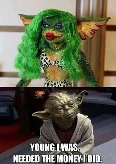 "Gremlin in Drag vs. Yoda: ""Young I was. Needed the Money I Did."""