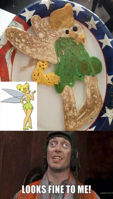 """Tinkerbell Pancake Fail: """"Looks fine to me!"""""""