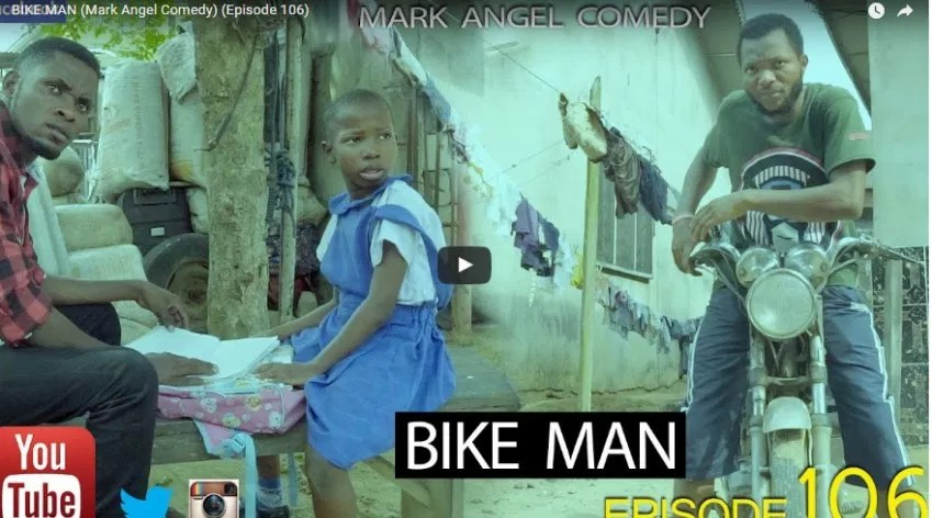 WATCH AND DOWNLOAD VIDEO: BIKE MAN – MARK ANGLE COMEDY (EPISODE 106)