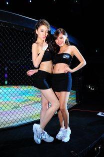 ONE FC Ring Girls Felixia Yeap and Jialin Tye
