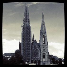Eglise en travaux