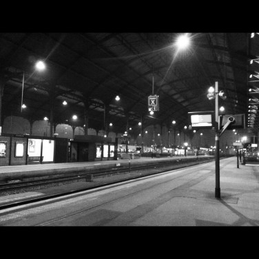 Gare de Strasbourg un soir de novembre