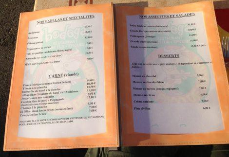 paco de maria menu