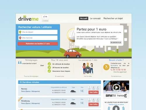 DriiveMe.com capture écran