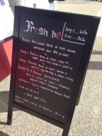fresh be burger foodtruck menu