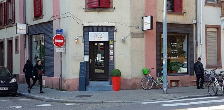 Petite cantoche restaurant Strasbourg plat du jour tribunal fosse des treize façade