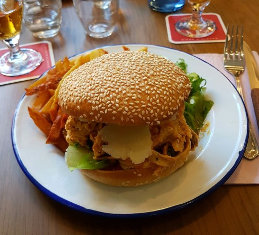 Petite cantoche restaurant Strasbourg plat du jour tribunal fosse des treize burger poulet