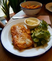 Petite cantoche restaurant Strasbourg plat du jour tribunal fosse des treize fish and chips
