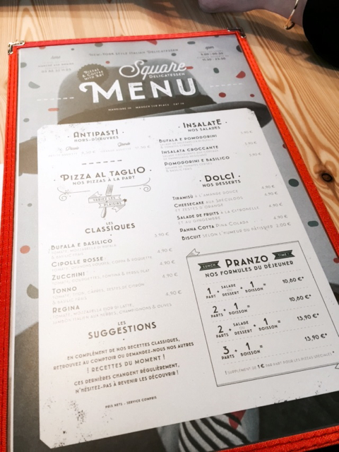 SQUARE Delicatessen pizza Strasbourg Little Italy menu 2