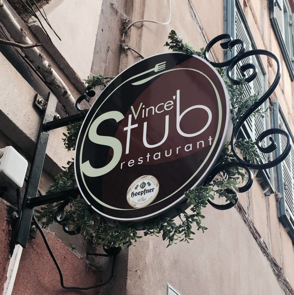 Vince Stub restaurant test Strasbourg avis cuisine de tradition