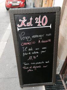 KAT40 restaurant bar strasbourg menu 2