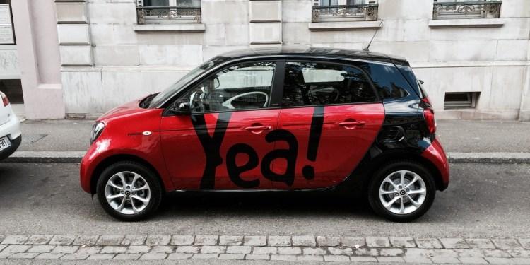 Yea voiture libre service sans reservation sans station Strasbourg exterieur