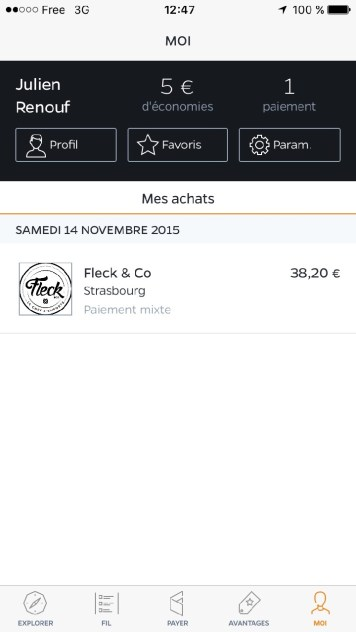 Fivory paiement mobile shopping Strasbourg