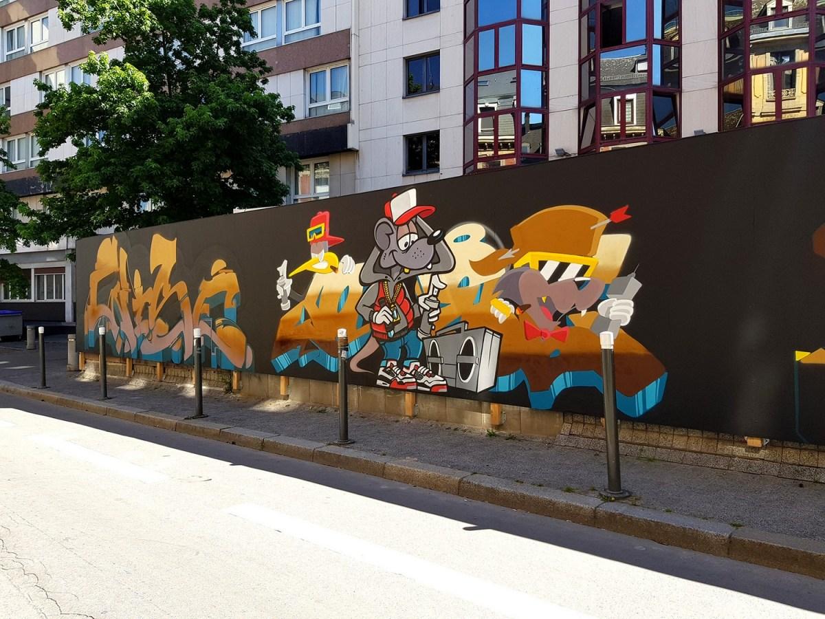 Primark Strasbourg en chantier: Du street art pour égayer le quartier !